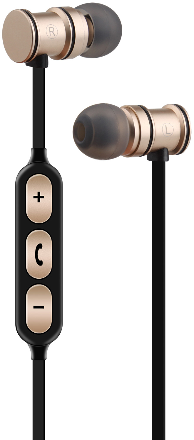 Magnetic Bluetooth Earphones Gold