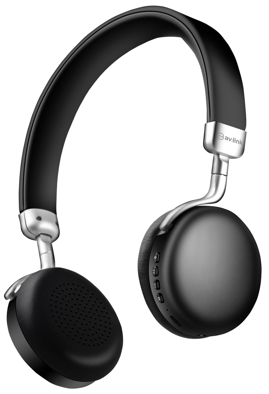 Metallic Bluetooth Headphones Black