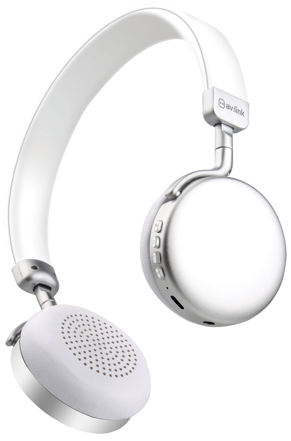 Metallic Bluetooth Headphones  Silver