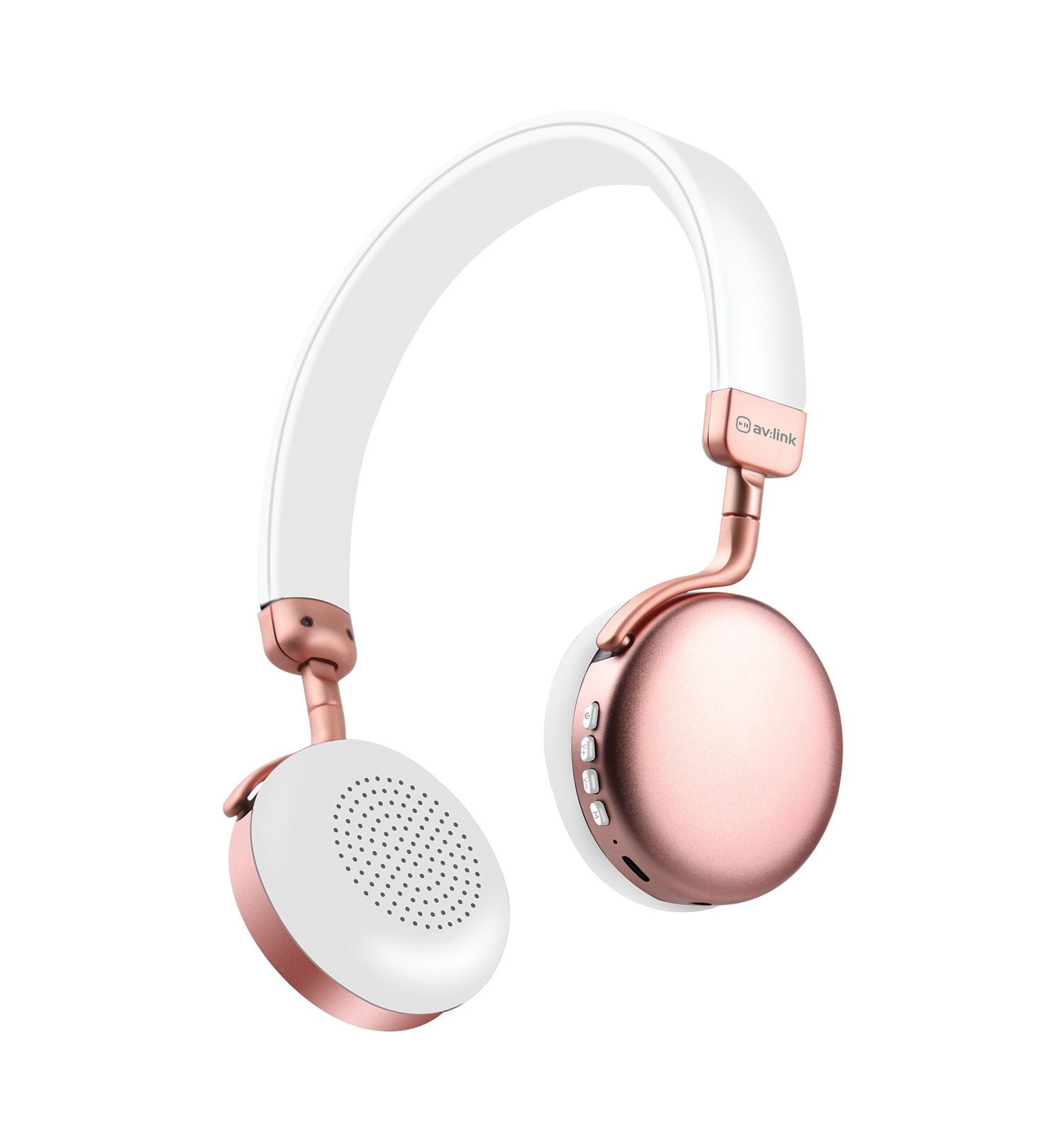 Metallic Bluetooth Headphones Rose Gold