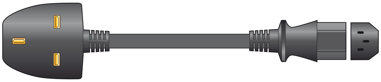IEC Lead 10.0m Black Bulk UK