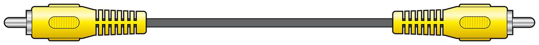 Standard RCA Plug to Plugs Lead 1.0m