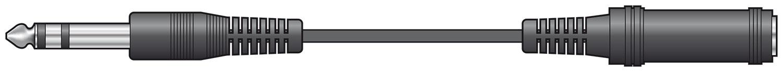 Standard 6.3mm Mono Plug to Socket Extension Lead 6.0m