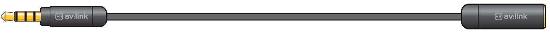 Precision 4 pole 3.5mm plug to socket extension lead 2.0m