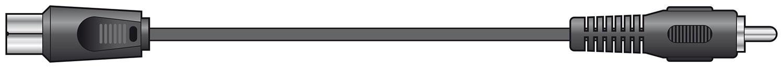 Coaxial Plug to RCA Plug Lead Black 2.0m