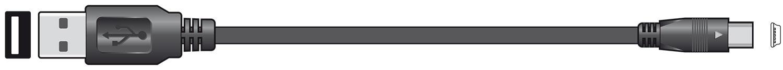 USB Lead 2.0 A Plug to Mini B 5Pin Plug 1.5m