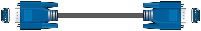 Standard VGA Lead Plug to Plug 2.0m