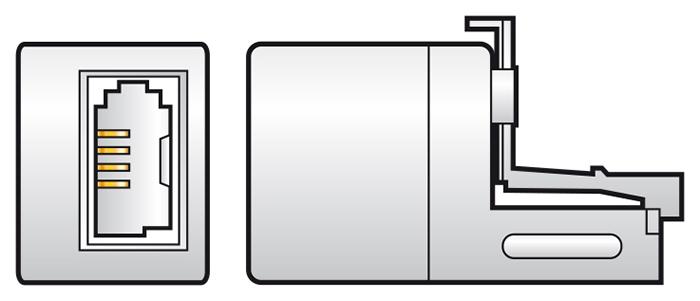 RJ11 to BT431A Telephone Socket Adaptor