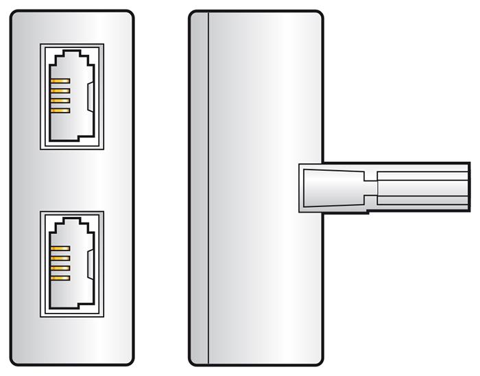 Double UK BT431A Telephone Socket Splitter