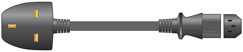 mercury UK Plug to IEC Power Lead Black 5.0m