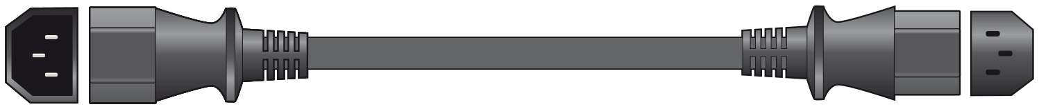 mercury IEC Plug to Socket Mains Extension Lead - 5.0m