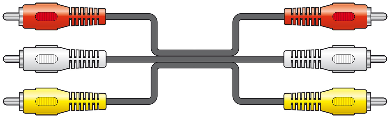 Essential 3RCA plugs to 3RCA plugs lead 1.5m