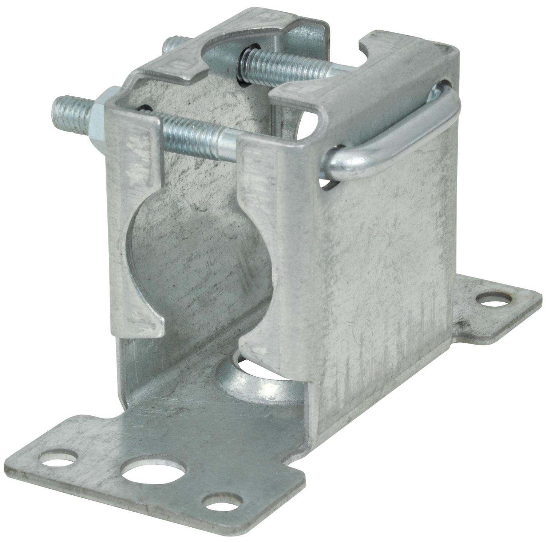 Pressed facia mast bracket with clamp- bulk