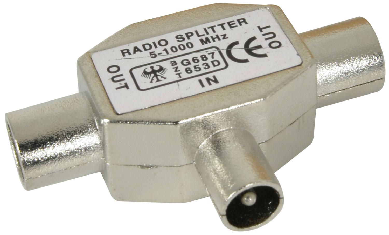 Radio Splitter 1 plug-2 socket