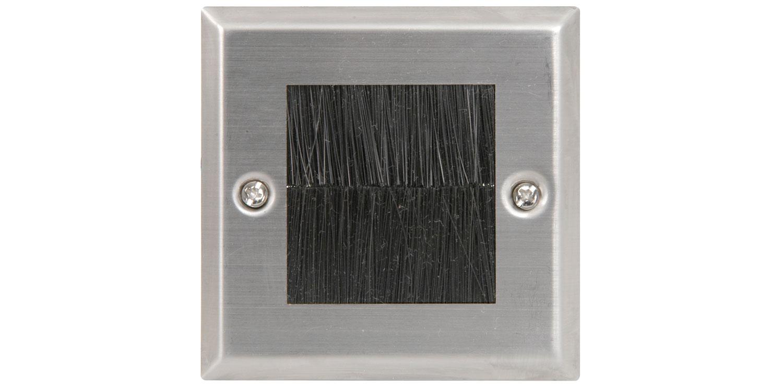 Brush wallplate - single steel