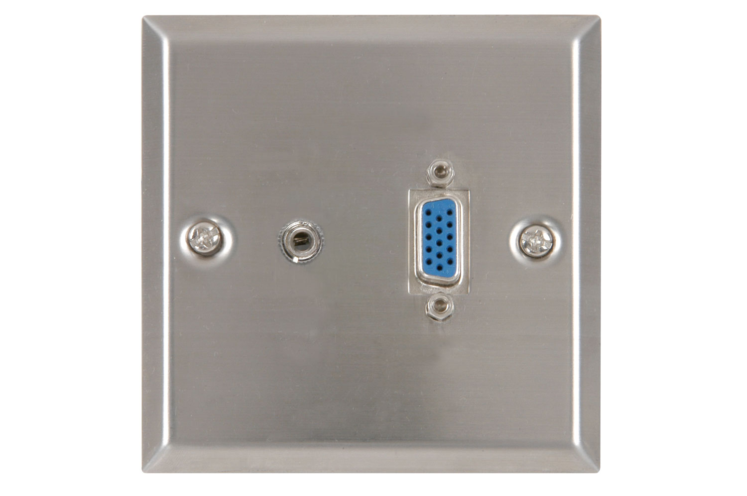 Thru-VGA + audio wallplate WH