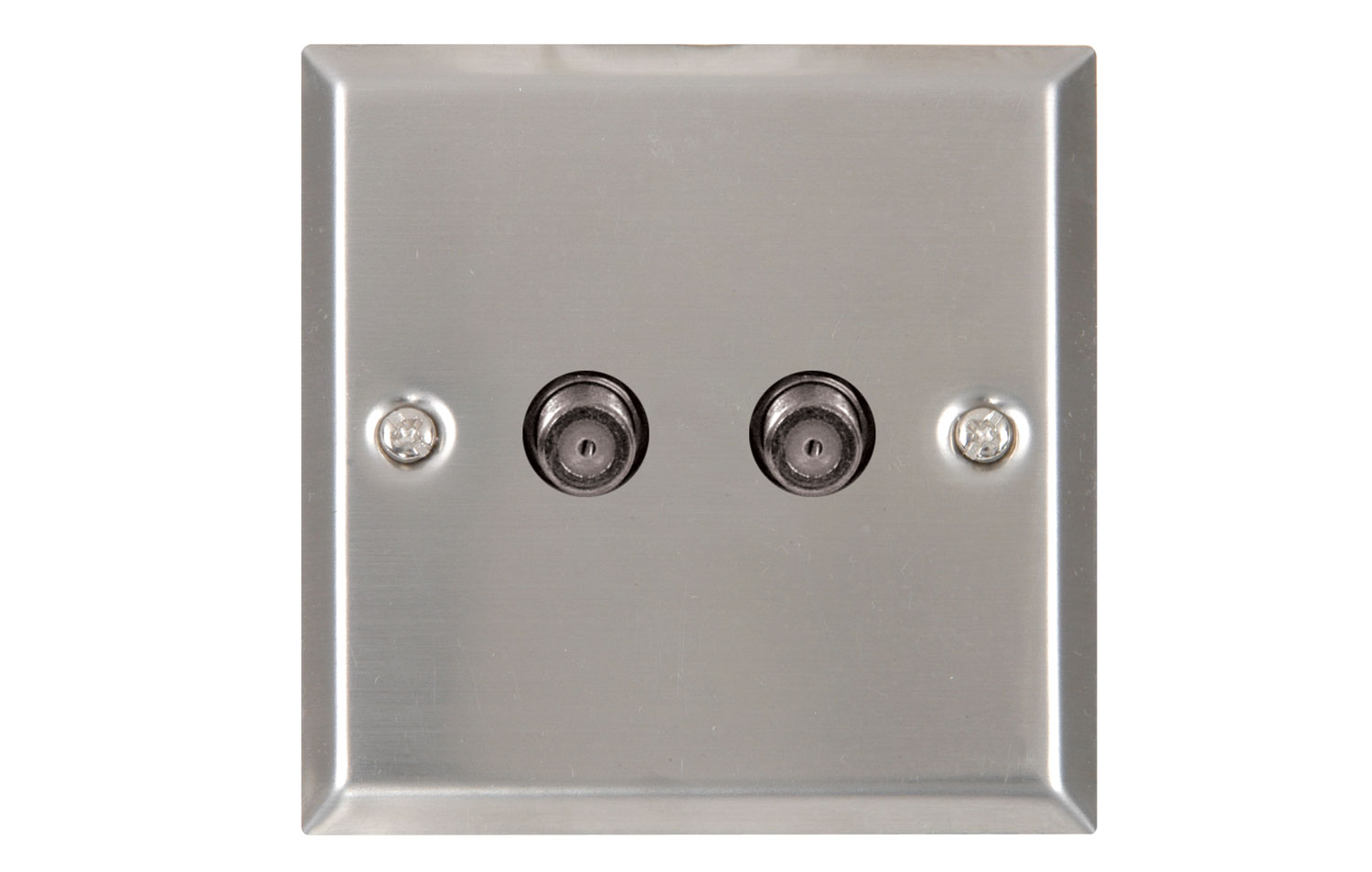 2 x Satellite wallplate steel