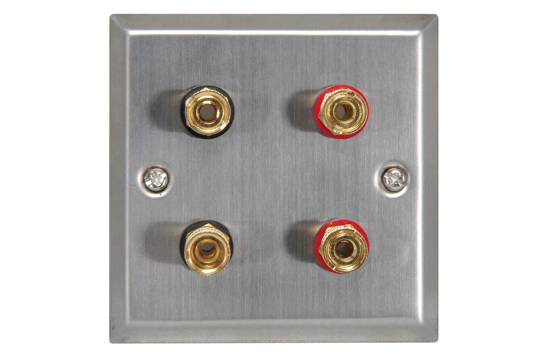 Speaker wallplate for a pair of speakers white