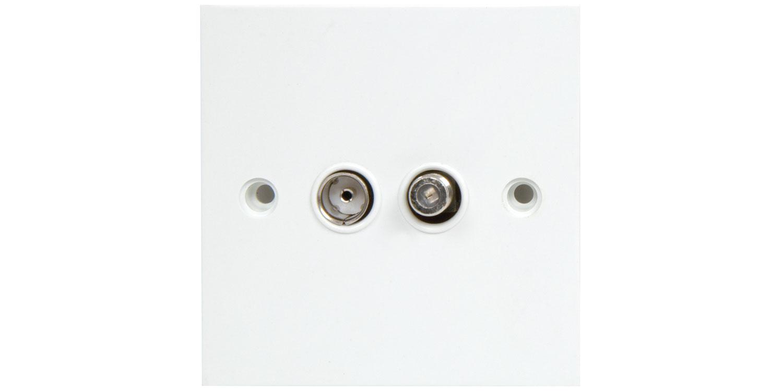 BA46 TV/Satellite wallplate