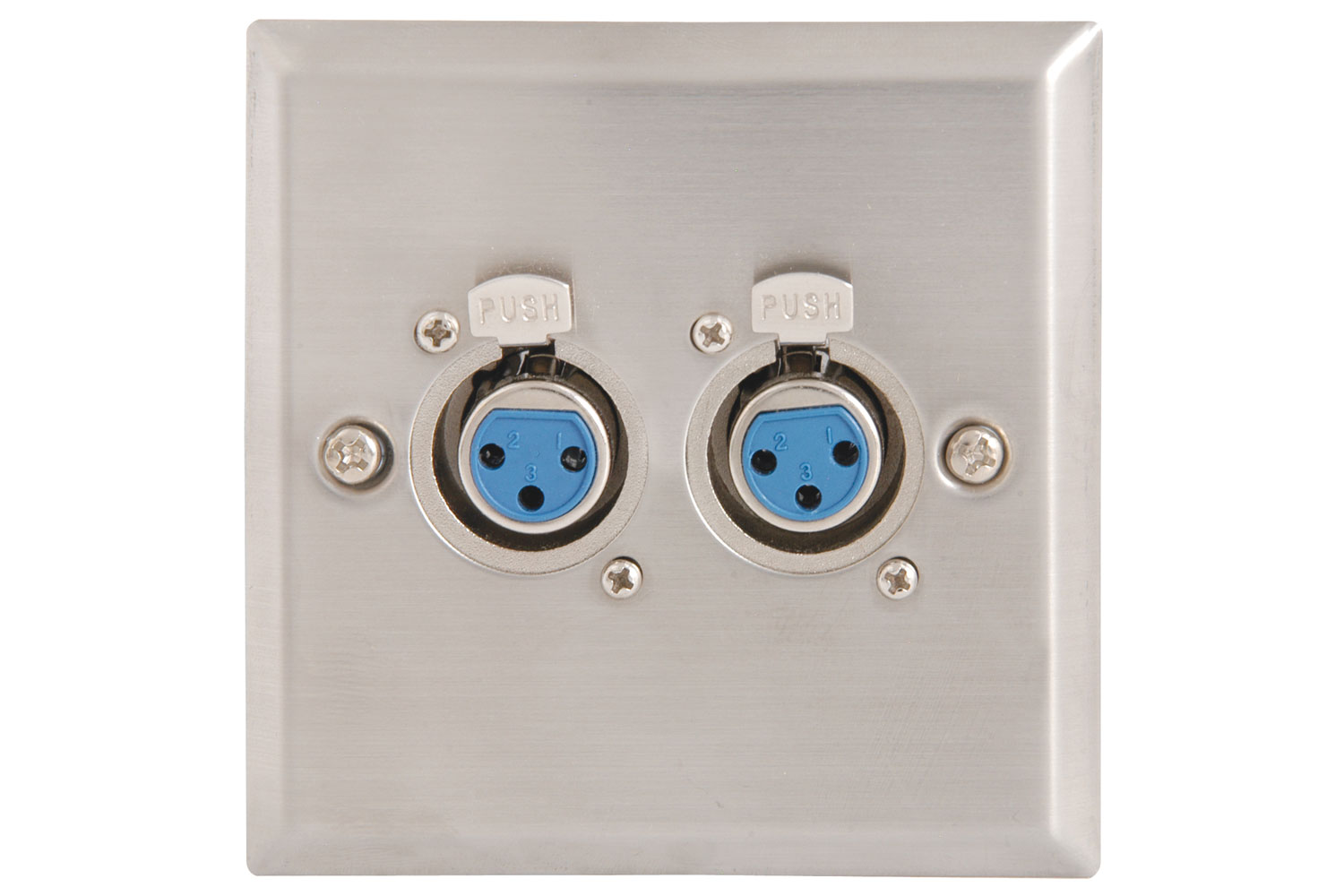 Wallplate 2x3pin XLR Socket