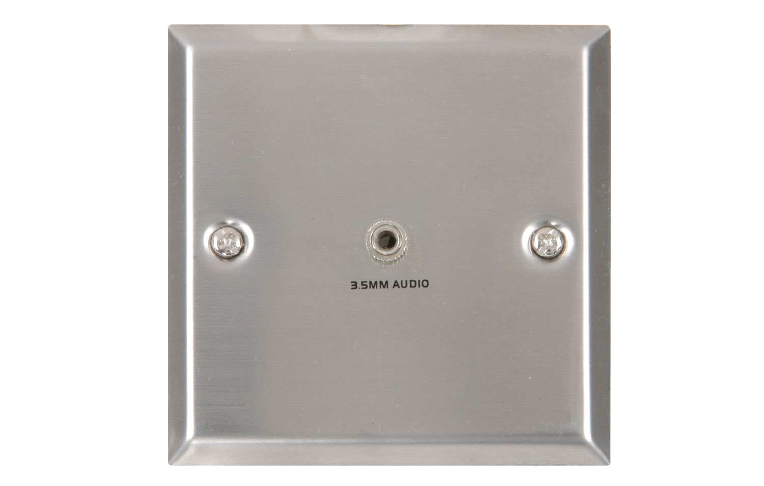 3.5mm audio wallplate white