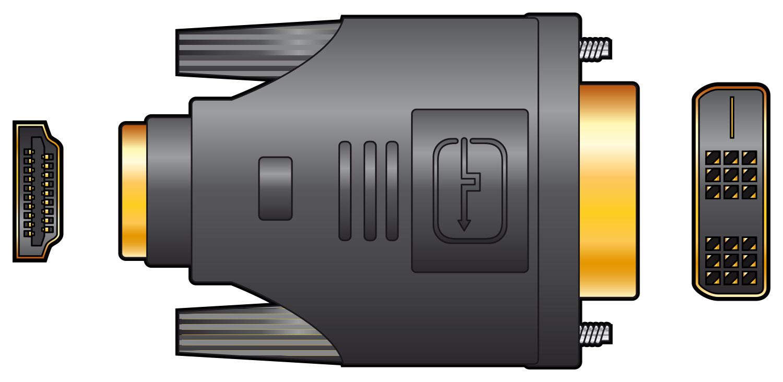 HDMI socket to DVI plug