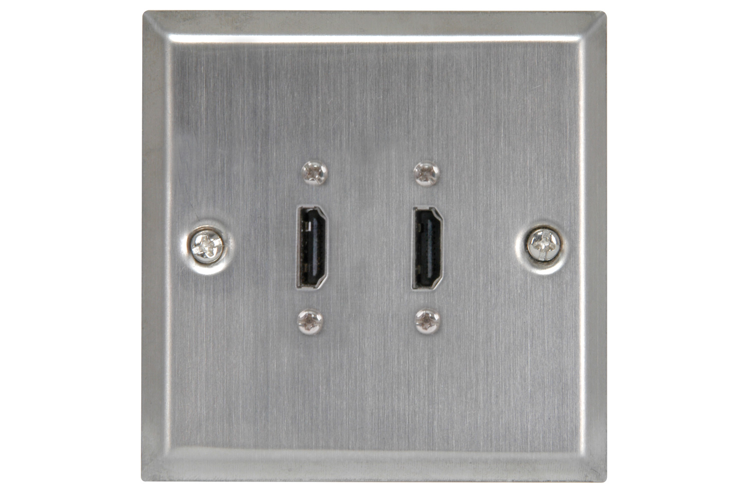 Wallplate 2xHDMI Steel