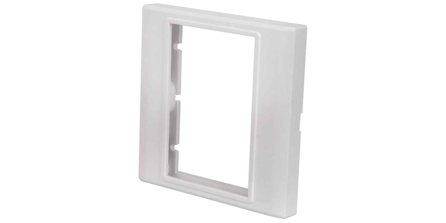 Single wallplate frame