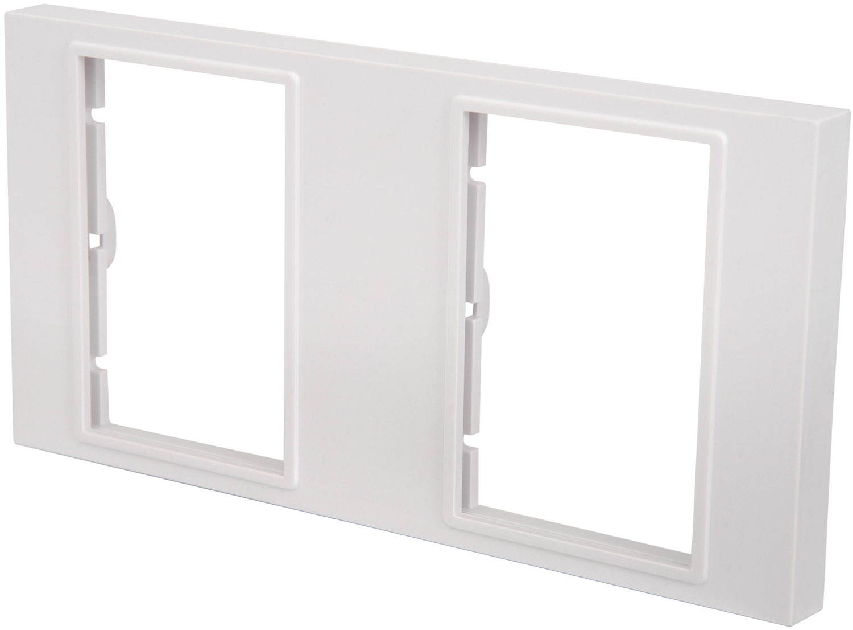 Dual wallplate frame