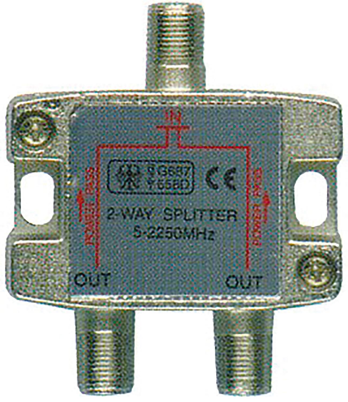 2-way satellite F splitter
