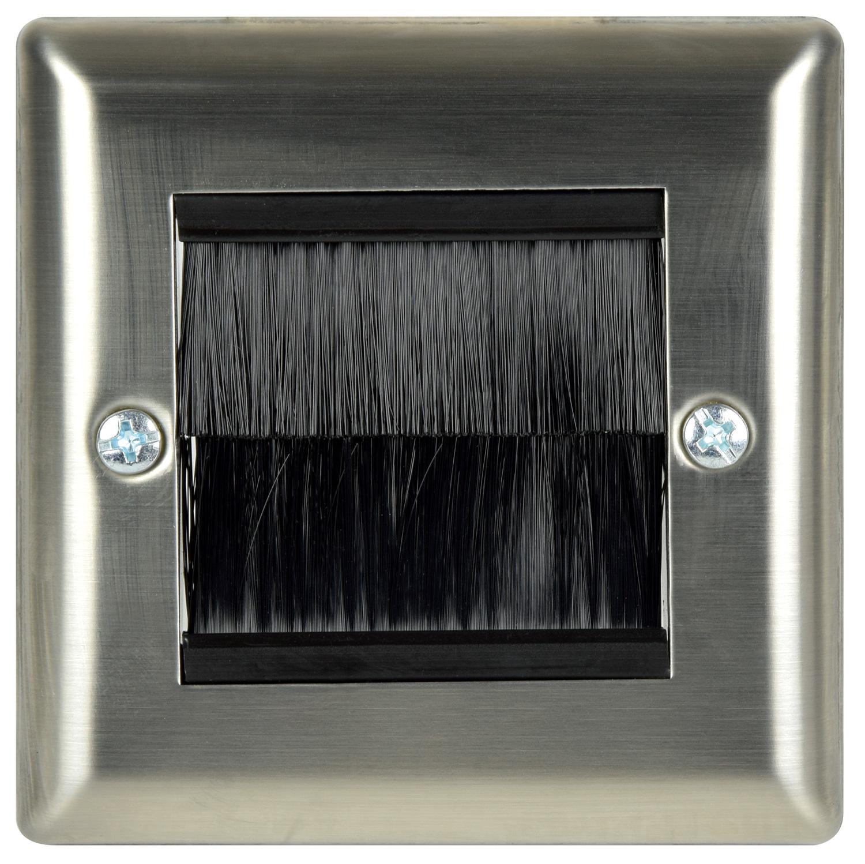avlink Brush wallplate single - steel