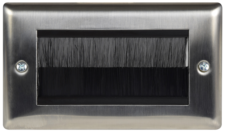 avlink Brush wallplate double - steel