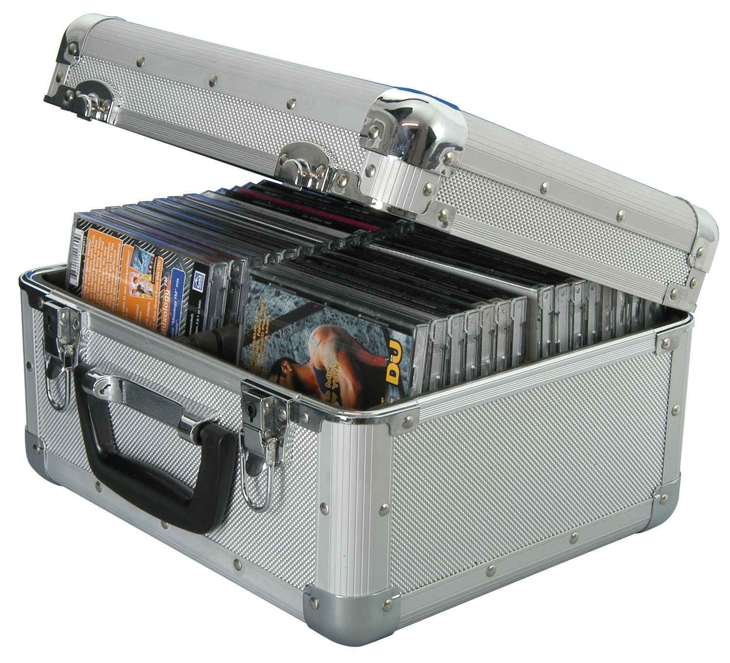 Aluminium CD flight case, 60 CDs