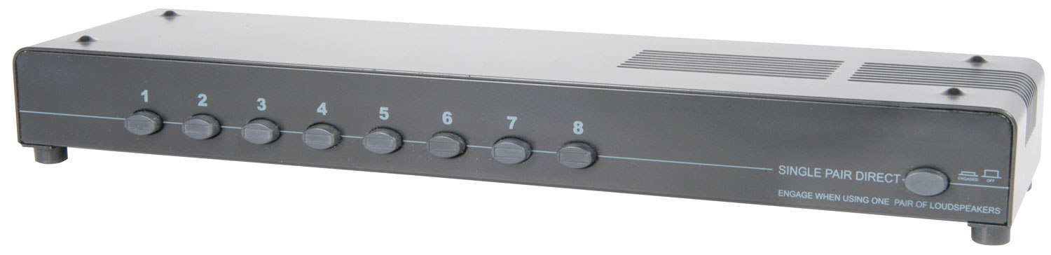 (UK version) 8-way loudspeaker selector