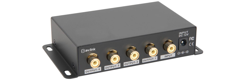 4-Way Composite Video Distribution Amplifier
