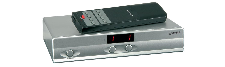 4 x 2 AV Matrix Switcher with IR Remote
