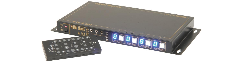 4:4 HDMI Distribution Matrix