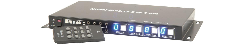2:4 HDMI Distribution Matrix