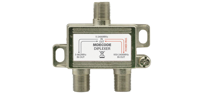 130053 Indoor Diplexer For TV/Satellite