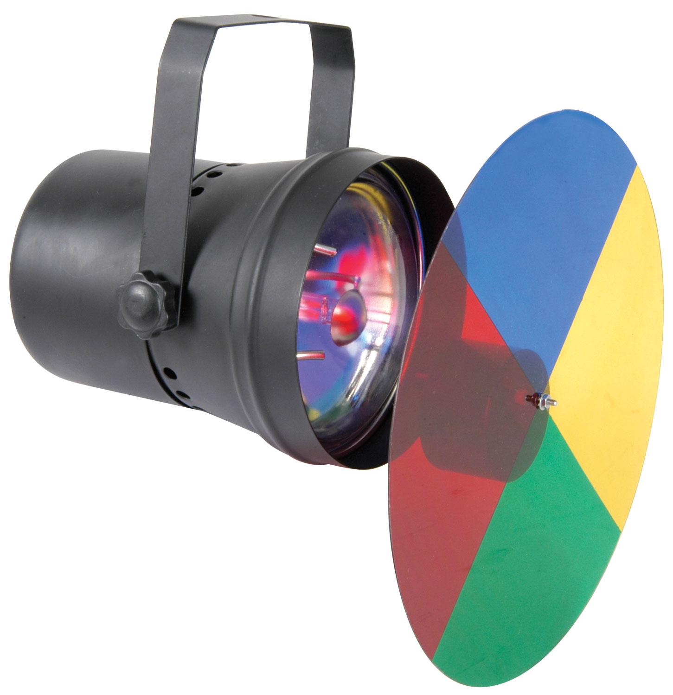 (UK version) PAR36 spot light with colour wheel