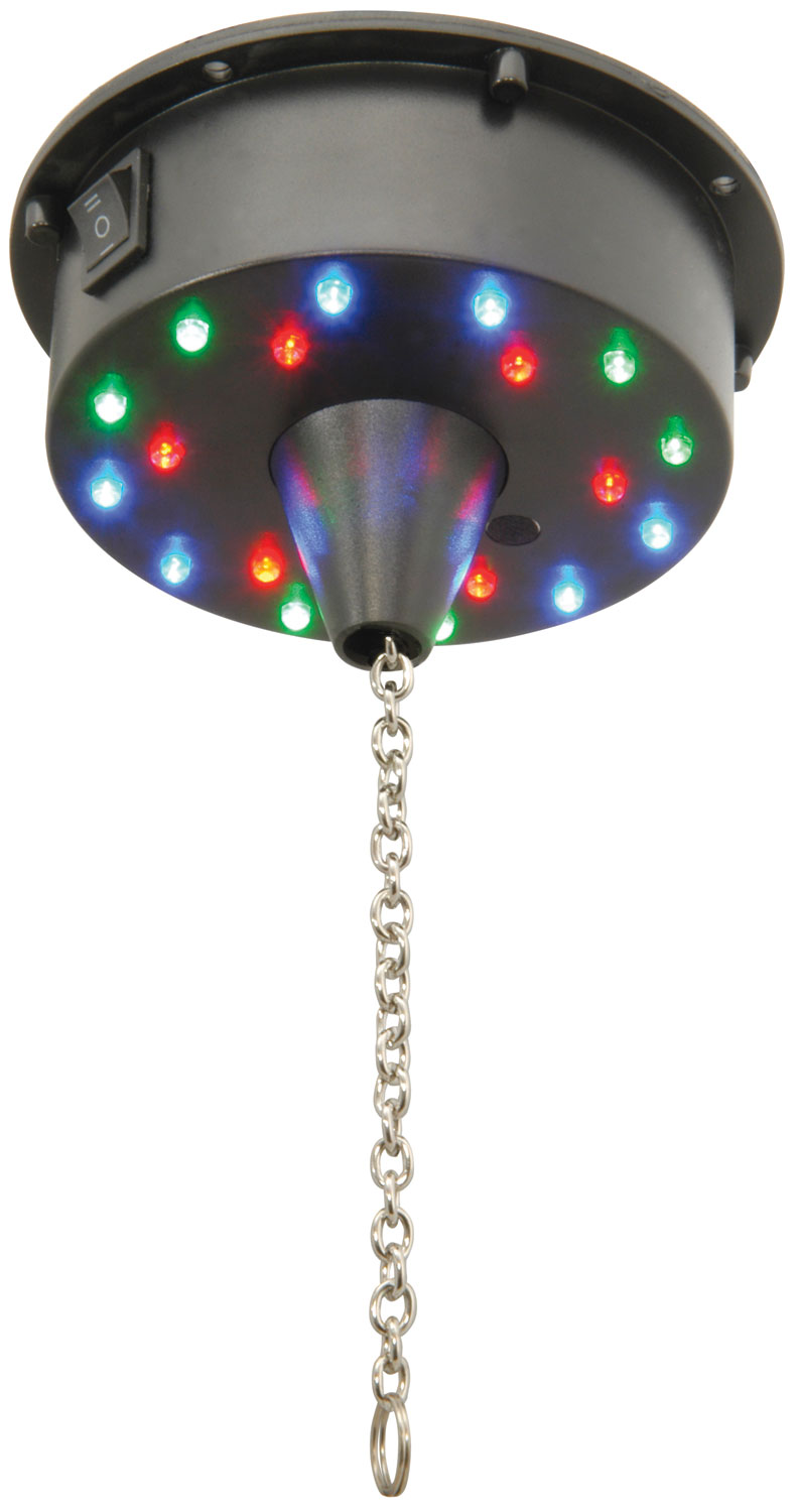Battery operated LED mirror ball motor