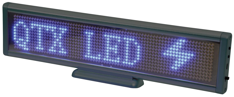 Blue desktop USB moving message display