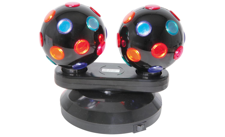 (UK version) Dual Rotating Disco Balls, Free Standing