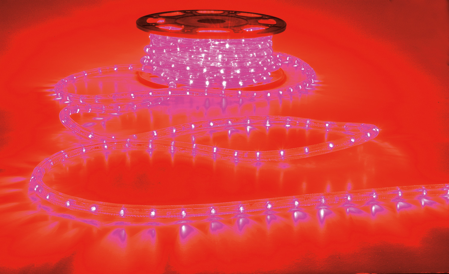 Weather resistant (IP44 rating) LED rope light Red, 50m