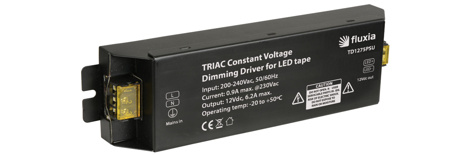 TRIAC Dimmable 12Vdc LED Tape PSU 75W