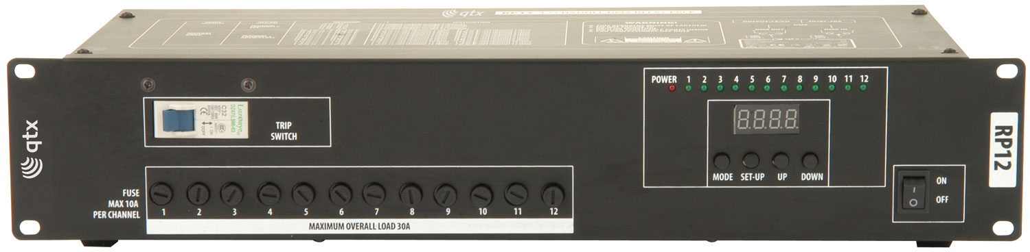 RP12 12 Channel DMX relay pack