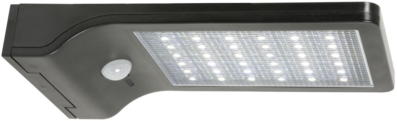 Solar LED Motion Sensor Security Light Black