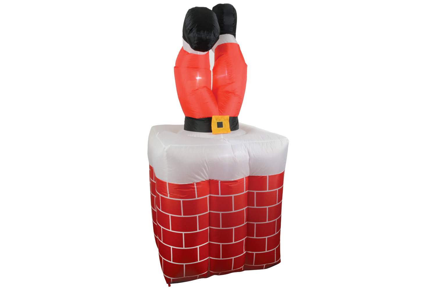 Inflatable Santa Stuck In Chimney