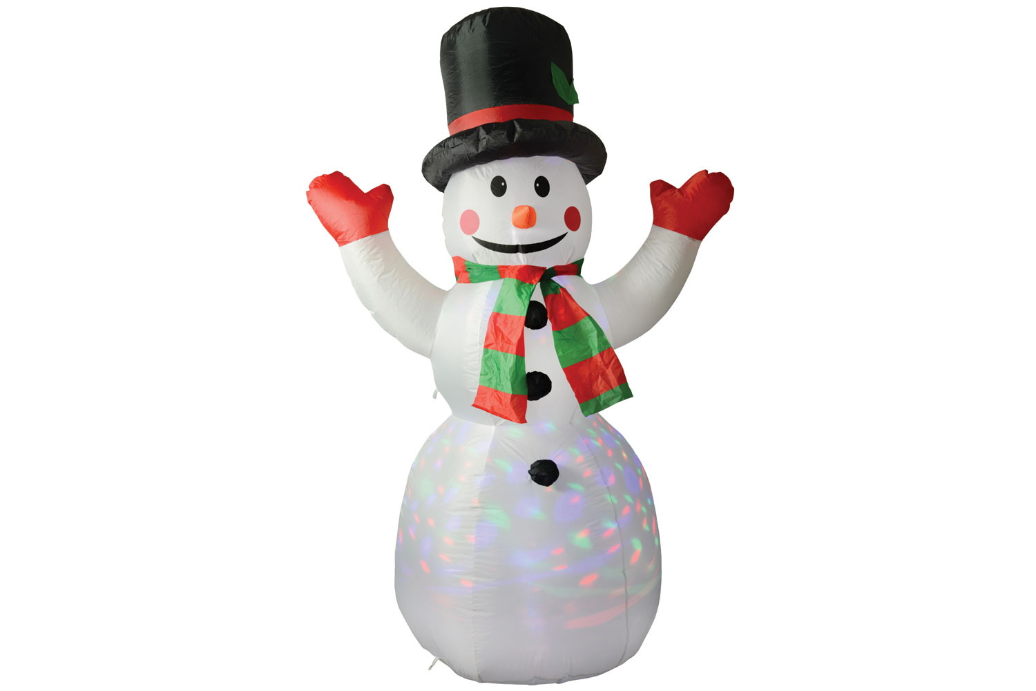 Inflatable Snowman With Colour Beam Effect