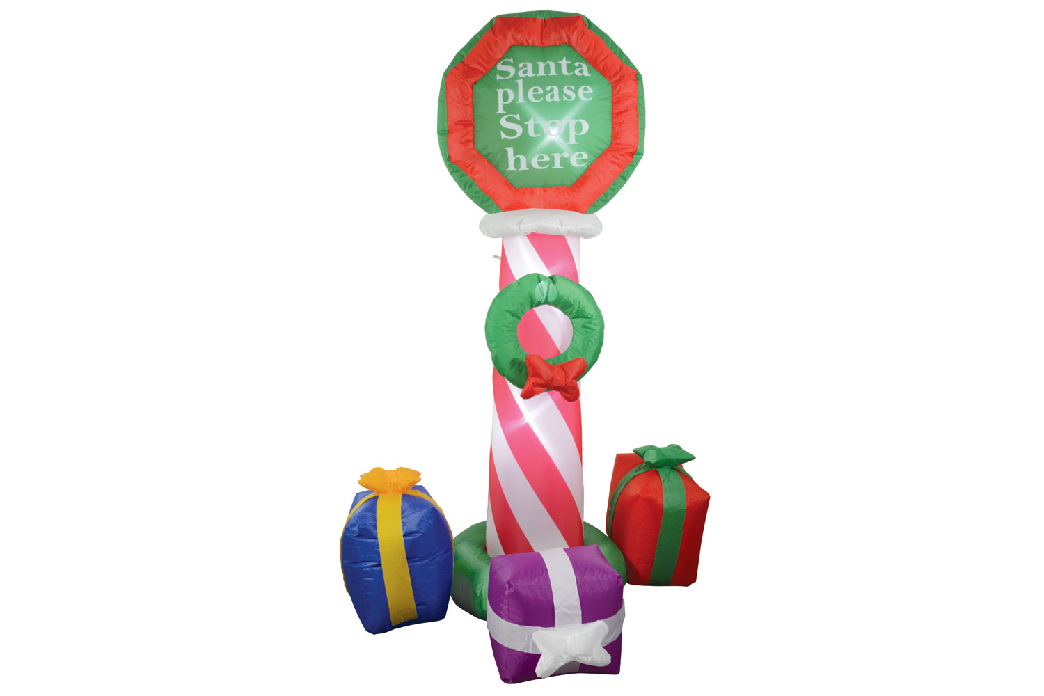 Inflatable 6ft Xmas Stop Sign & Gifts